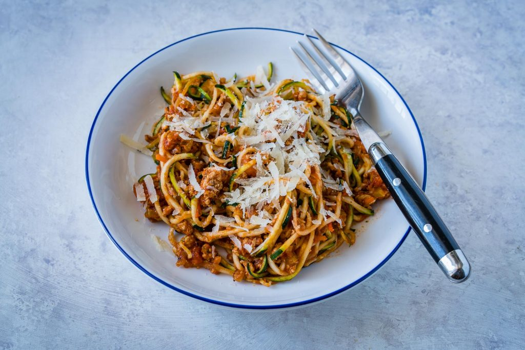 Healthy Turkey Zoodle Bolognese