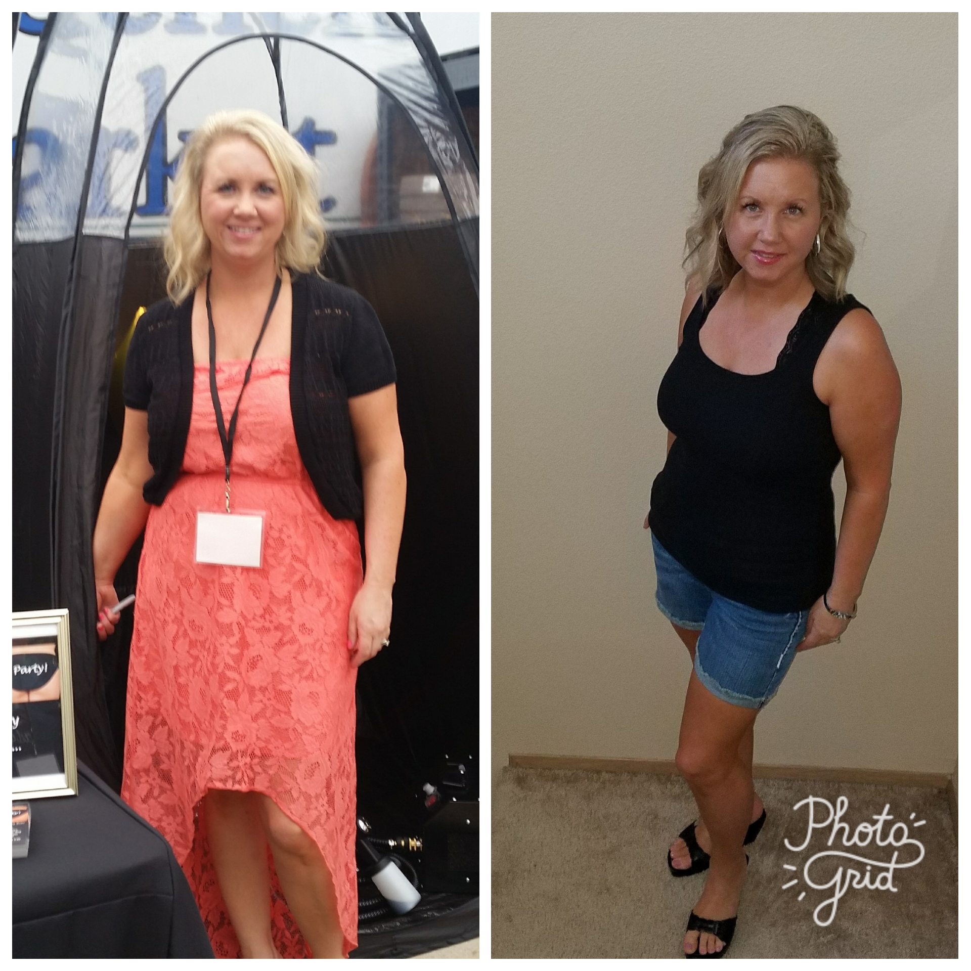 Heidi before and after 30 day clean eating challenge
