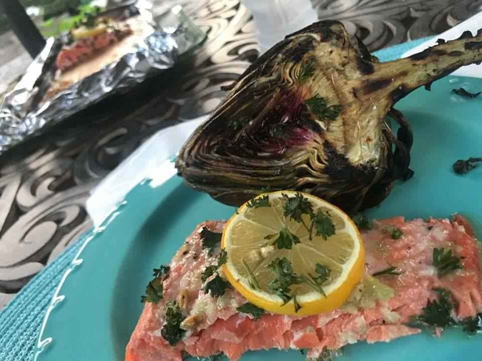 Honey Lemon Garlic Salmon on the Grill! Recipe