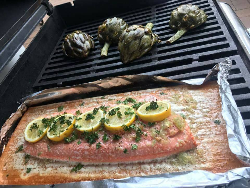 Healthy Lemon Garlic Salmon on the Grill