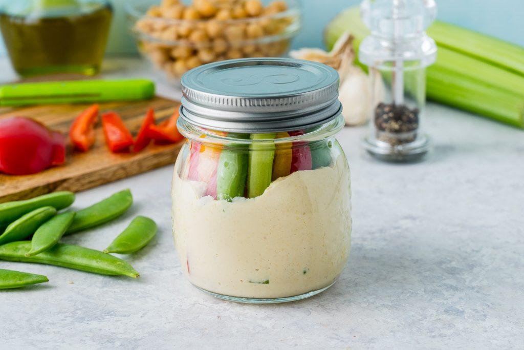 Hummus Crunchy Veggies Snack Jars