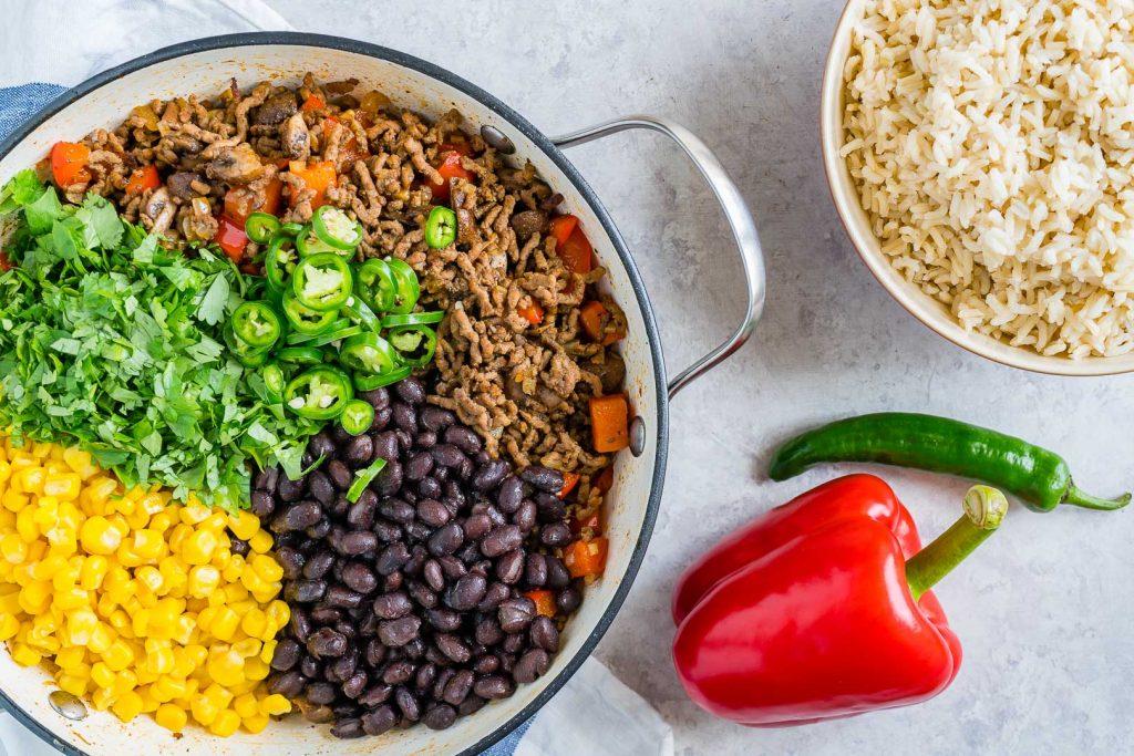 Meal Prep Spicy Beef Taco Skillet