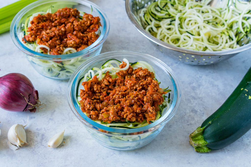 Clean Eating Turkey Zoodle Bolognese