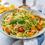 Beautiful Zucchini Pasta Primavera