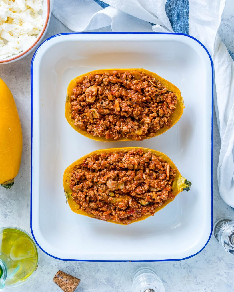 Bolognese Stuffed Spaghetti Squash Recipe Ingredients