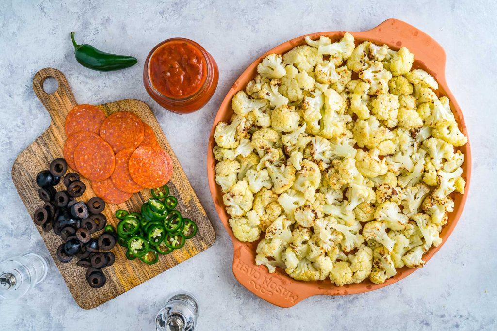 Clean Food Cauliflower Pizza Bake