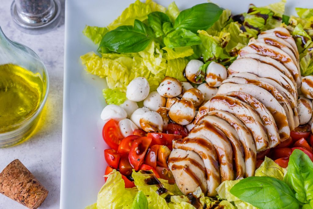 Chicken Caprese Balsamic Dressing on Plate