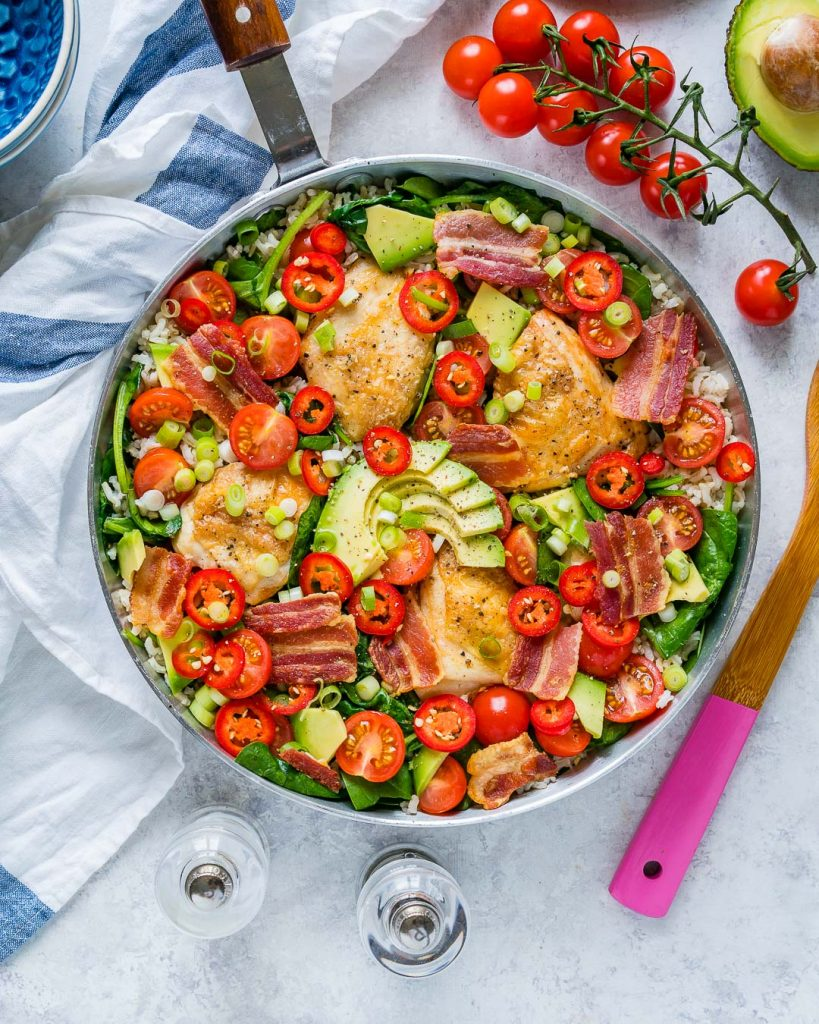 Healthy and Fresh BLT Skillet