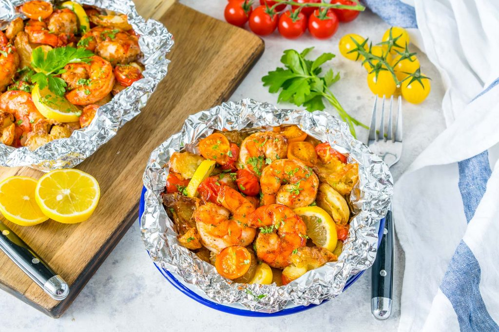 Honey Garlic Shrimp Packets Preparation