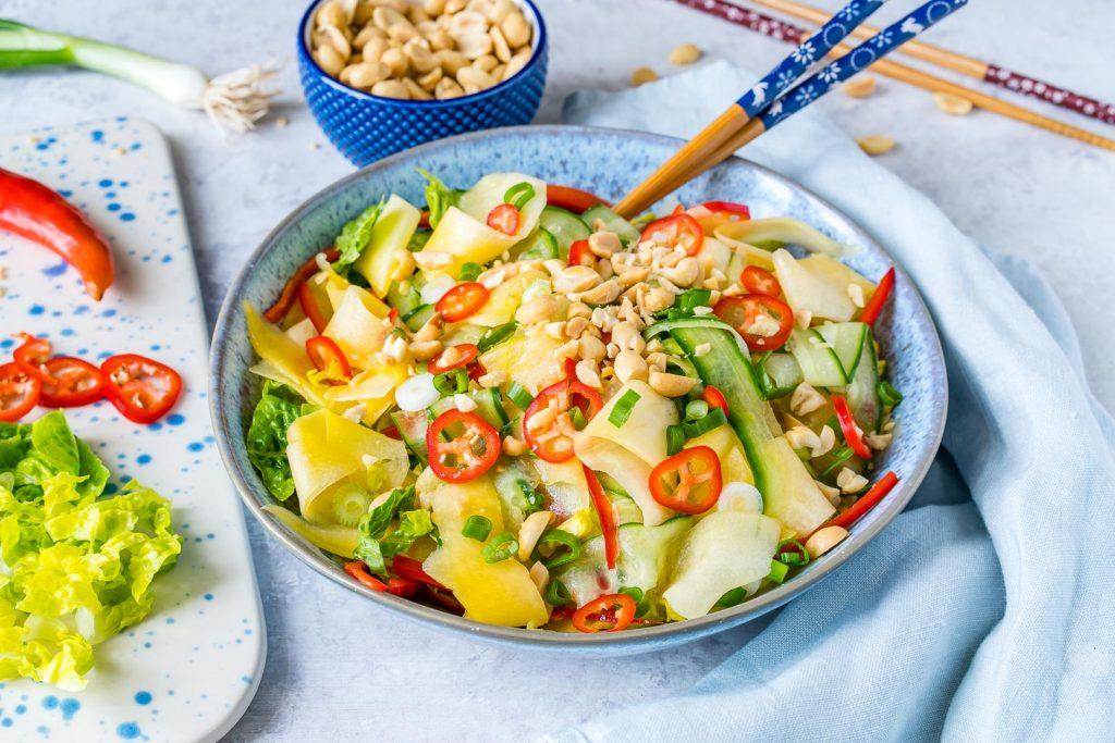 Clean Eating Thai Cucumber Mango Salad