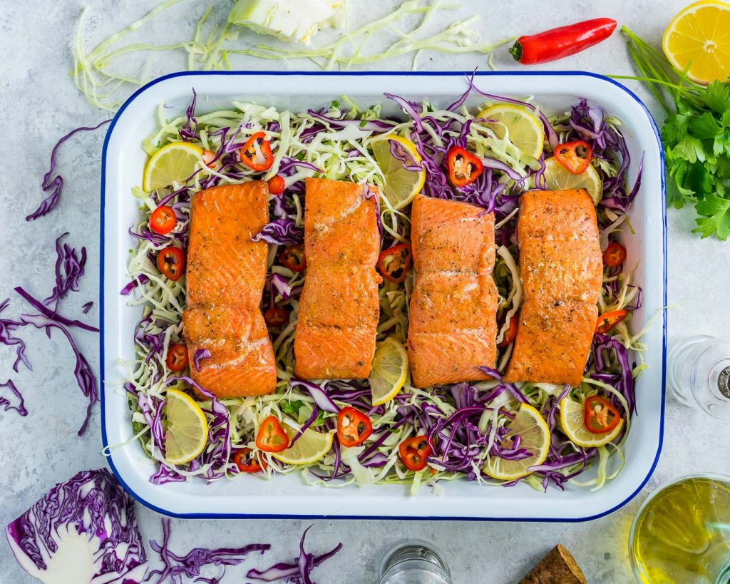 Honey Lime Salmon Tangy Cabbage