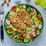 Crispy Chicken Salad with Homemade Honey Dijon Dressing