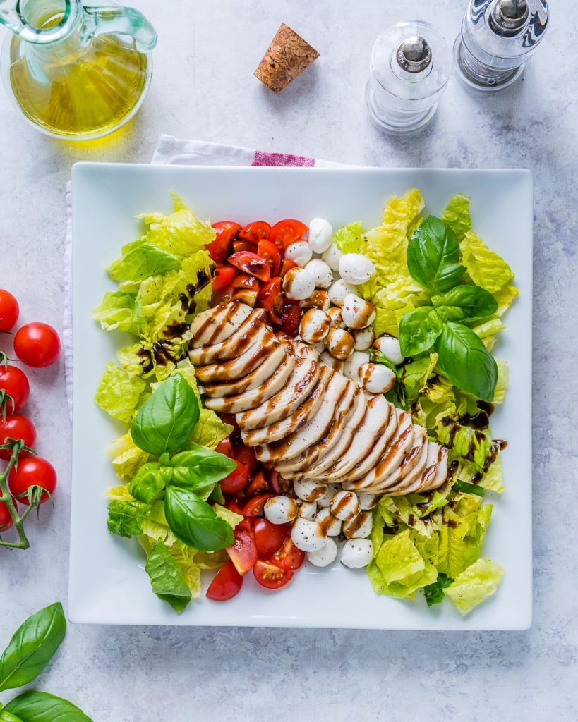 Clean Eating Clean Chicken Caprese Balsamic Dressing