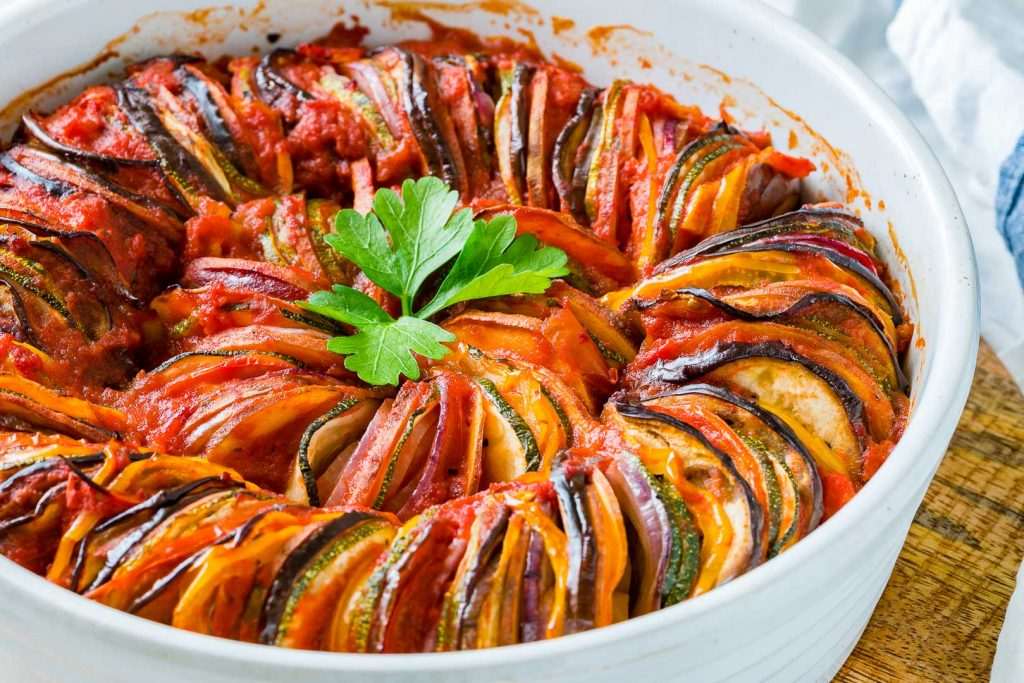 Classic Summertime Ratatouille Food Prep