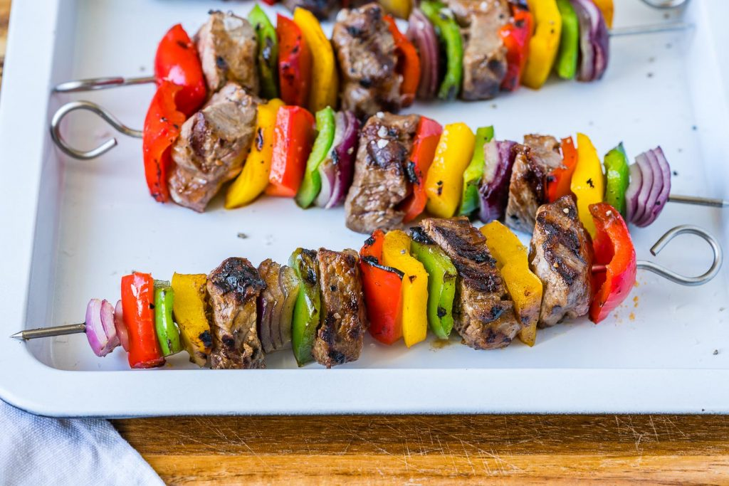 Clean Food Fajita Steak Skewers