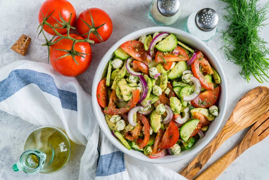 Healthy Fresh Summertime Italian Chopped Salad