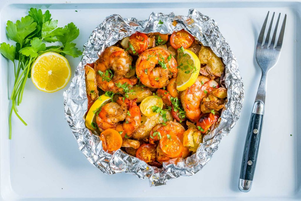 Honey Garlic Shrimp Packets Recipe