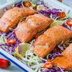 Eat Clean Honey-Lime Salmon + Tangy Cabbage