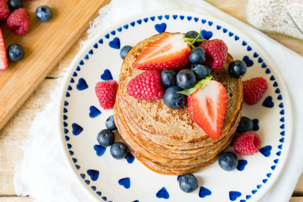 Oatmeal Protein Pancakes Preparation