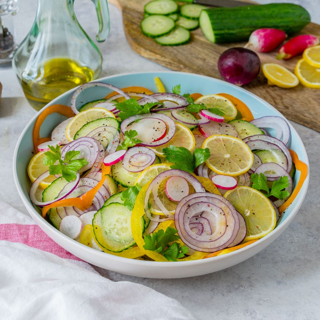 Eat Clean Sliced Summer Detox Salad