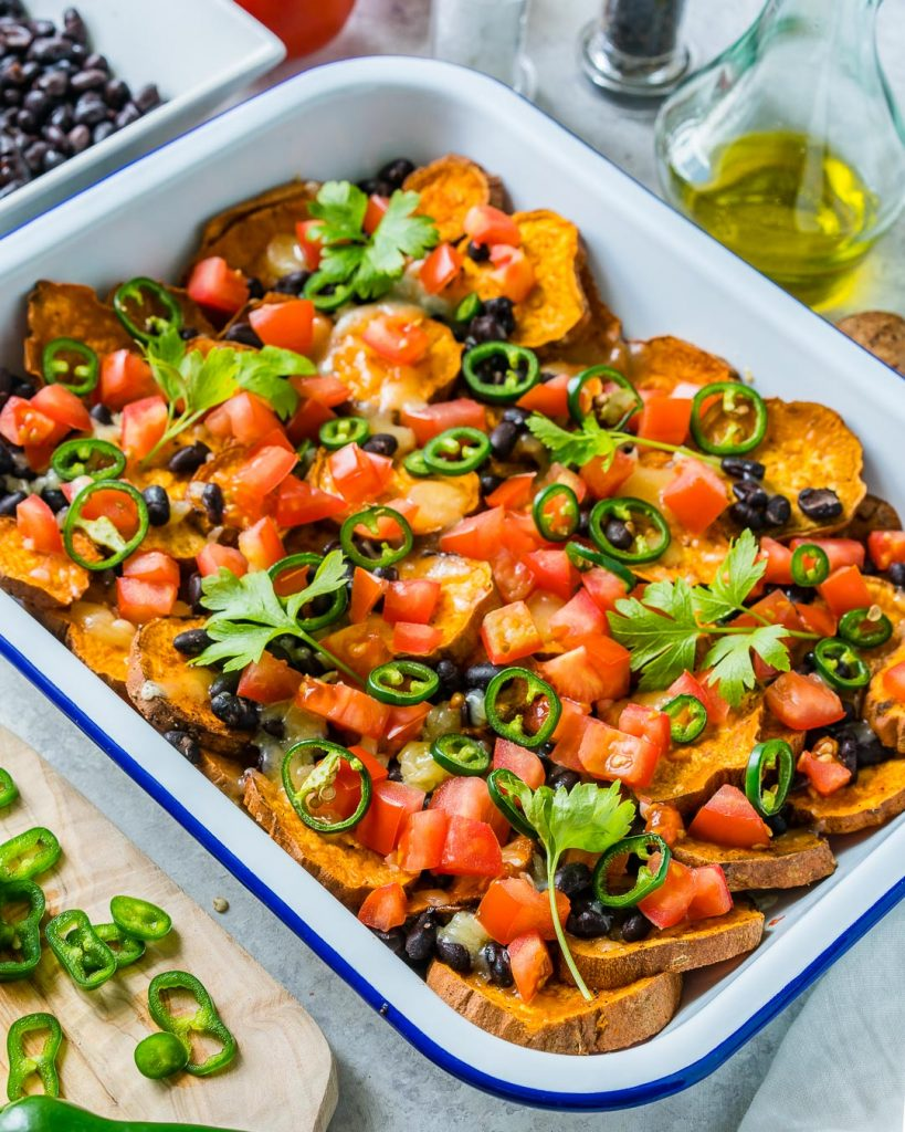 Epic Loaded Sweet Potato Nachos