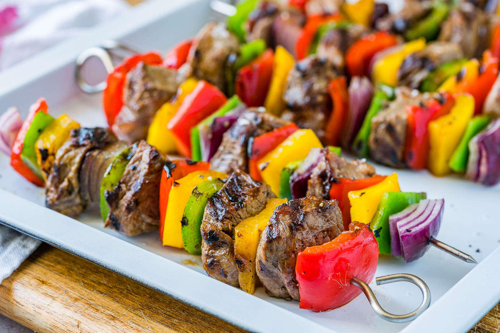 CleadFoodCrush Fajita Steak Skewers Recipe