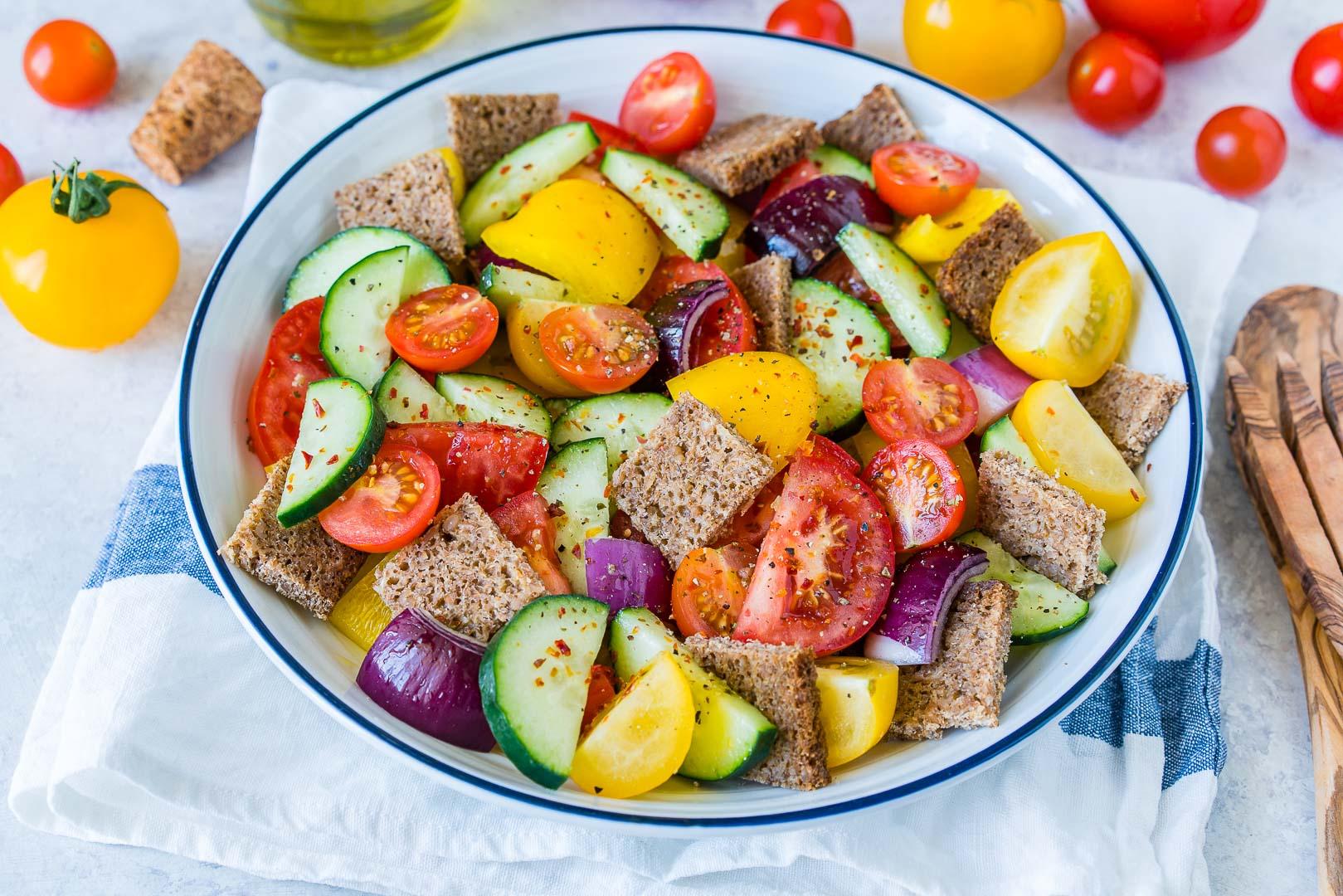 Garden Fresh Gazpacho Salad CleanFoodCrush