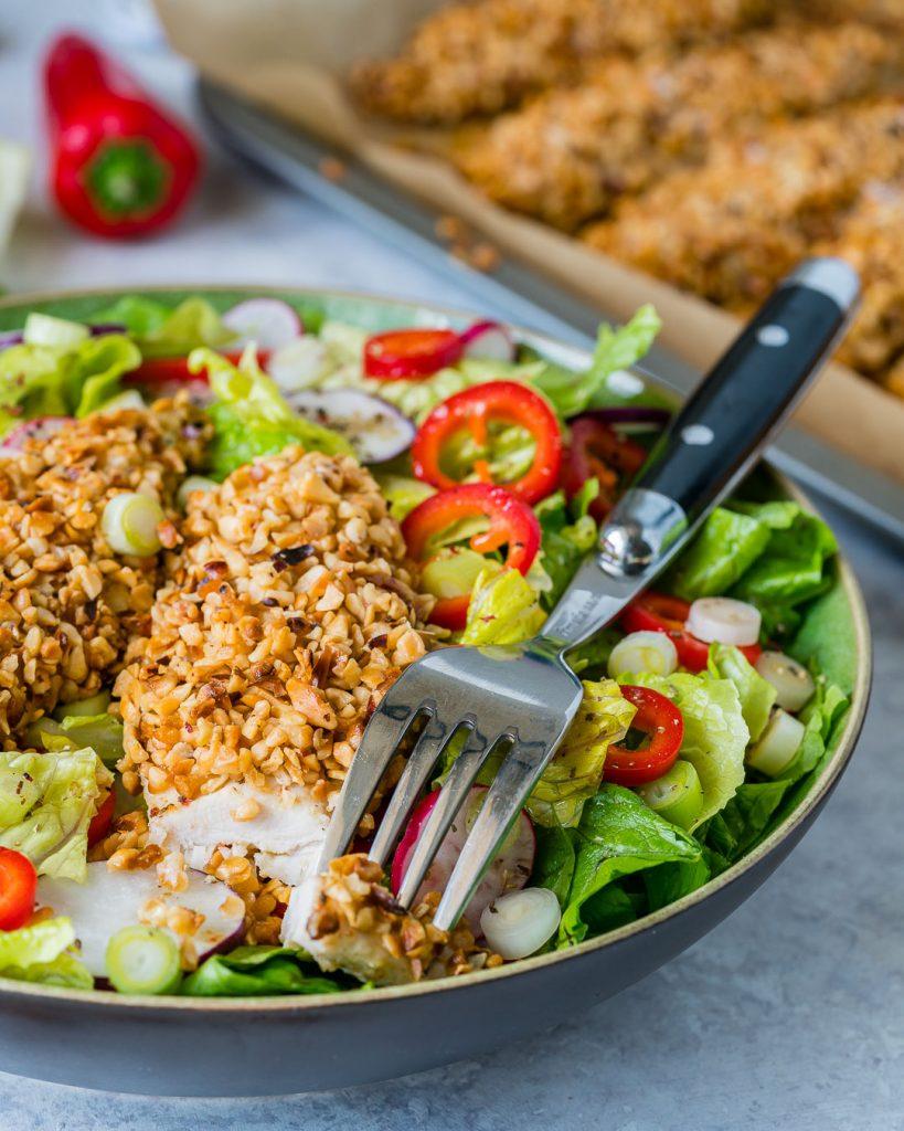 Eat Clean Gluten Free Crispy Chicken Salad