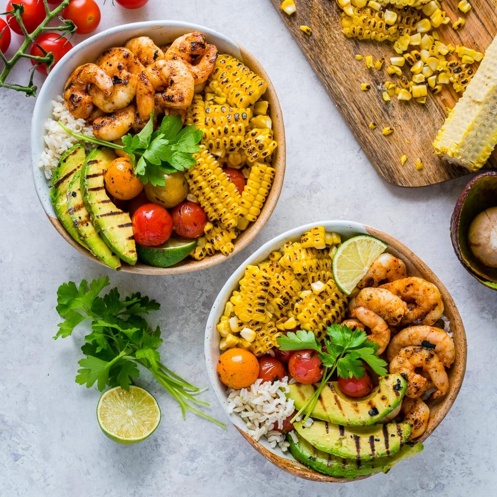 Grilled Shrimp Bowls Cilantro Lime Rice