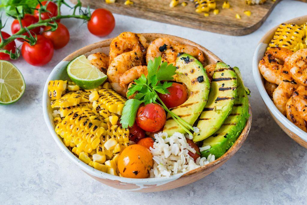 Preparation for Grilled Shrimp Bowls Cilantro Lime Rice