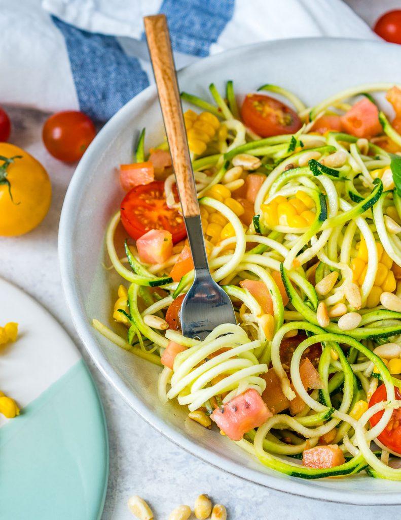 Eat Clean Zucchini Pasta Primavera