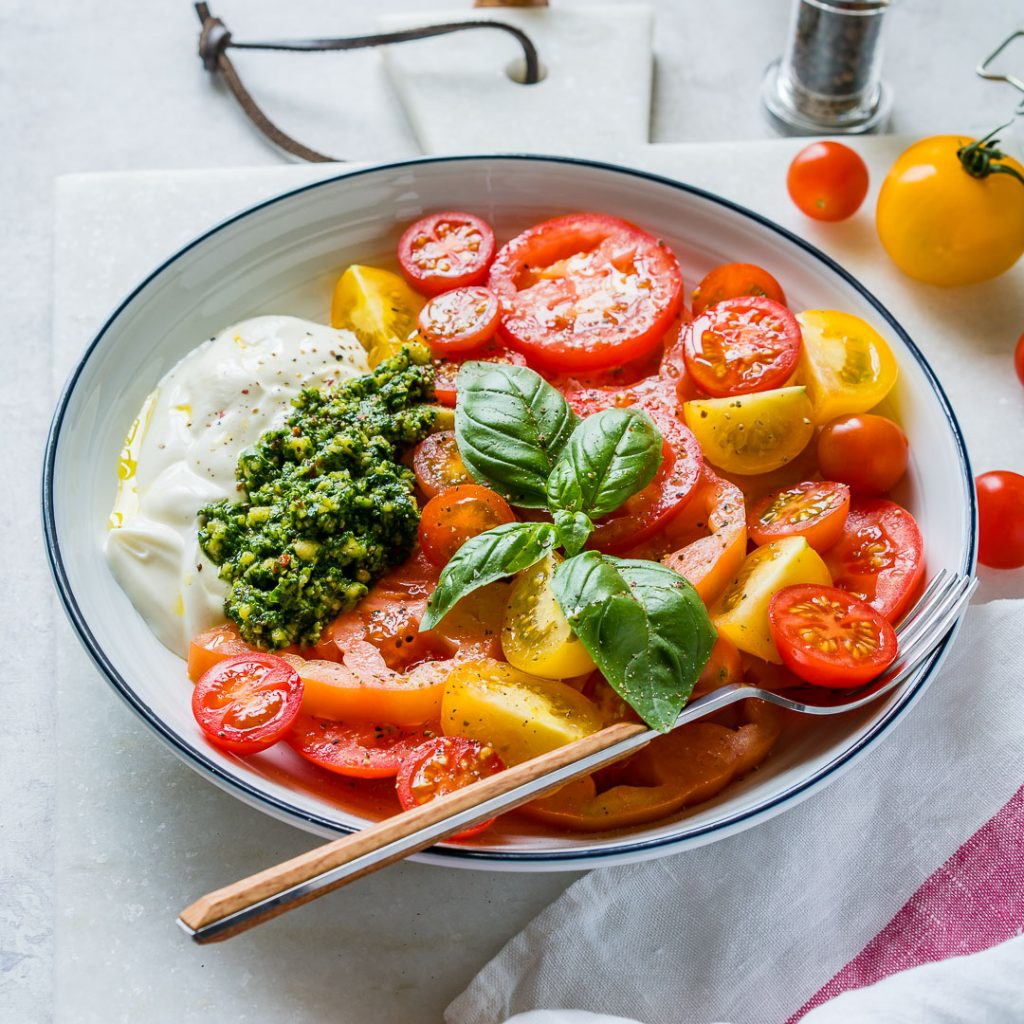 Heirloom Tomatoes Pesto Yogurt Recipe