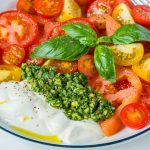 Heirloom Tomatoes and Pesto Yogurt Recipe