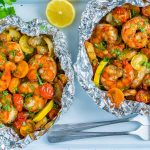 Clean Food Honey Garlic Shrimp Packets Recipe