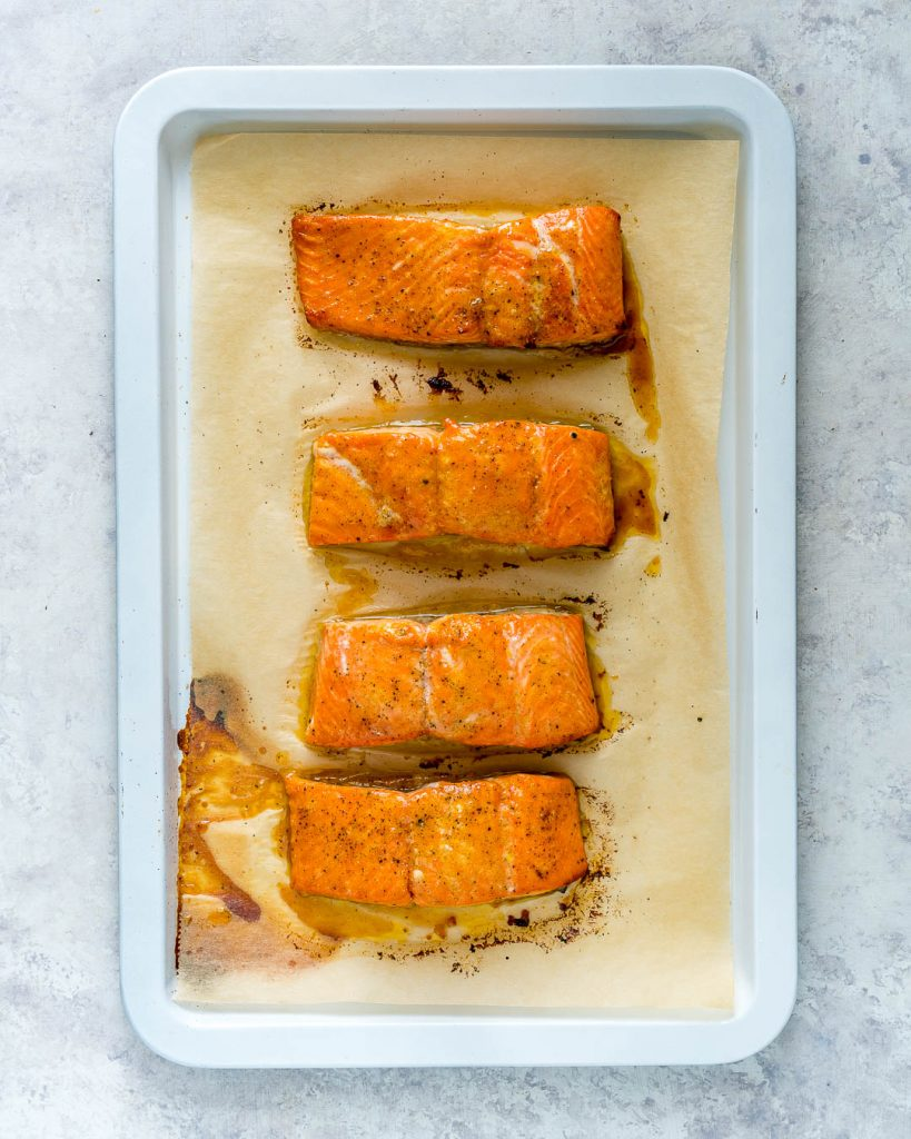 Honey Lime Salmon Tangy Cabbage Clean Eating