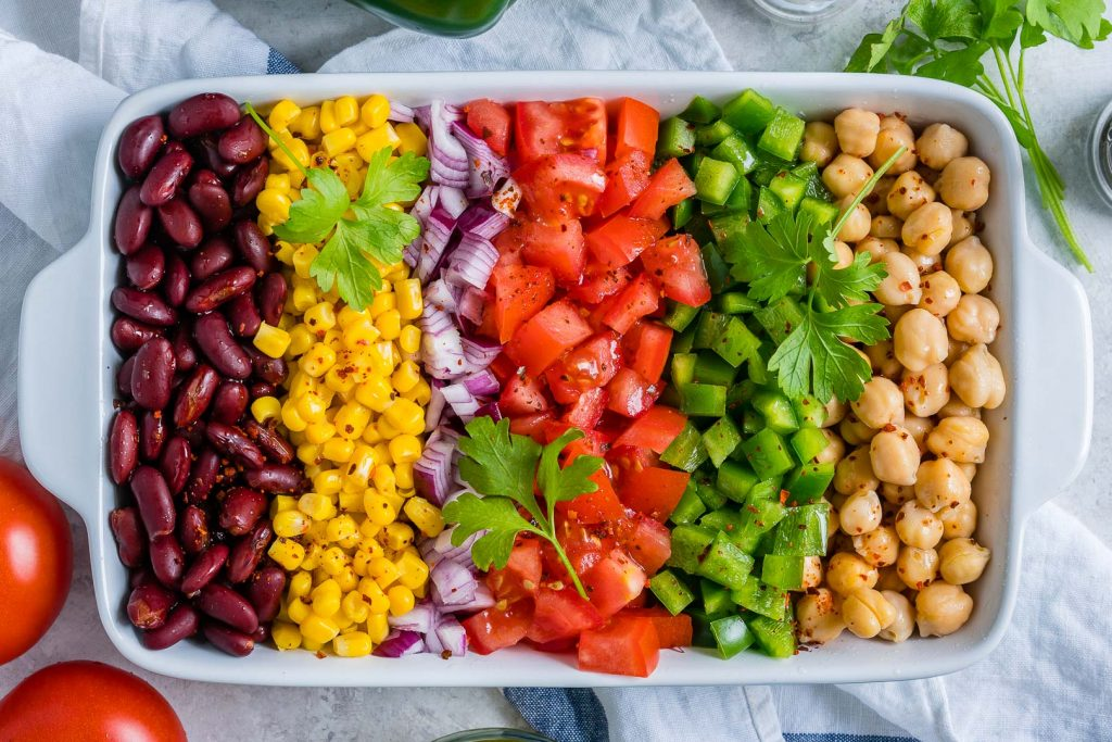 Clean and Healthy Lemony-Layered Bean Salad