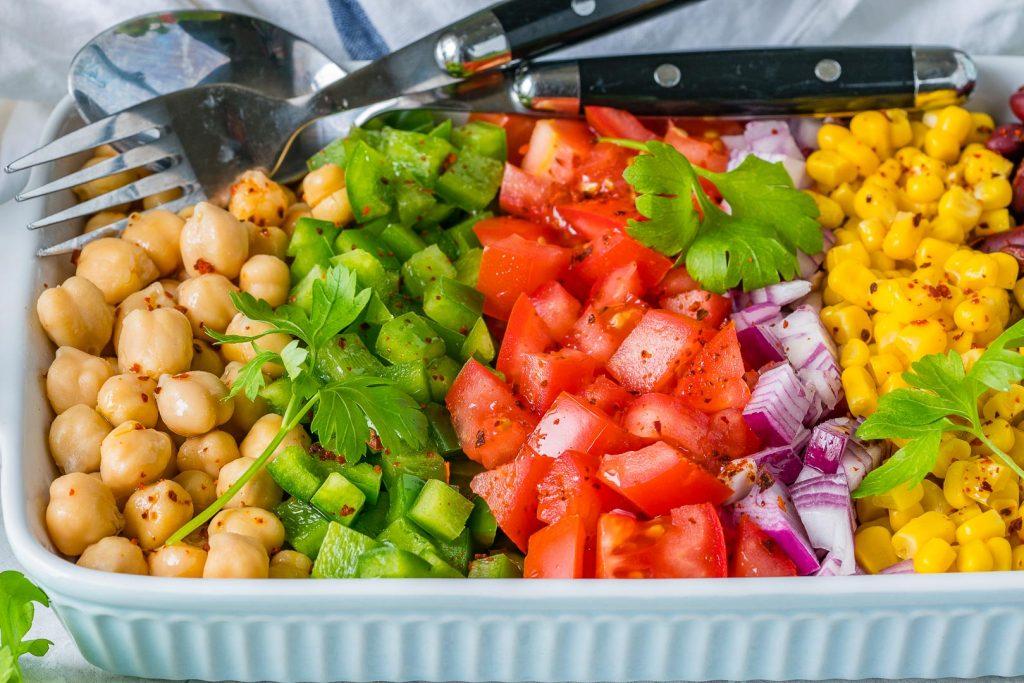Lemony Layered Bean Salad Recipe
