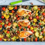 One Sheet Pan Tuscan Chicken Recipe