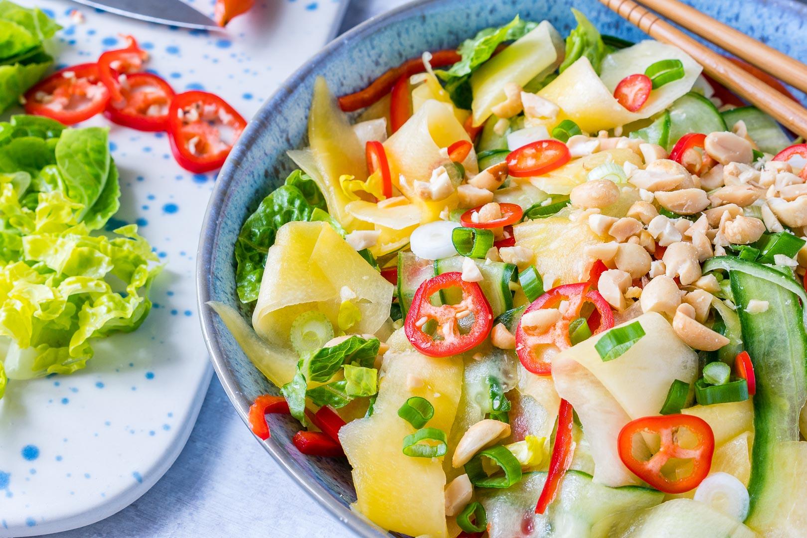 Thai Cucumber + Mango Salad CleanFoodCrush
