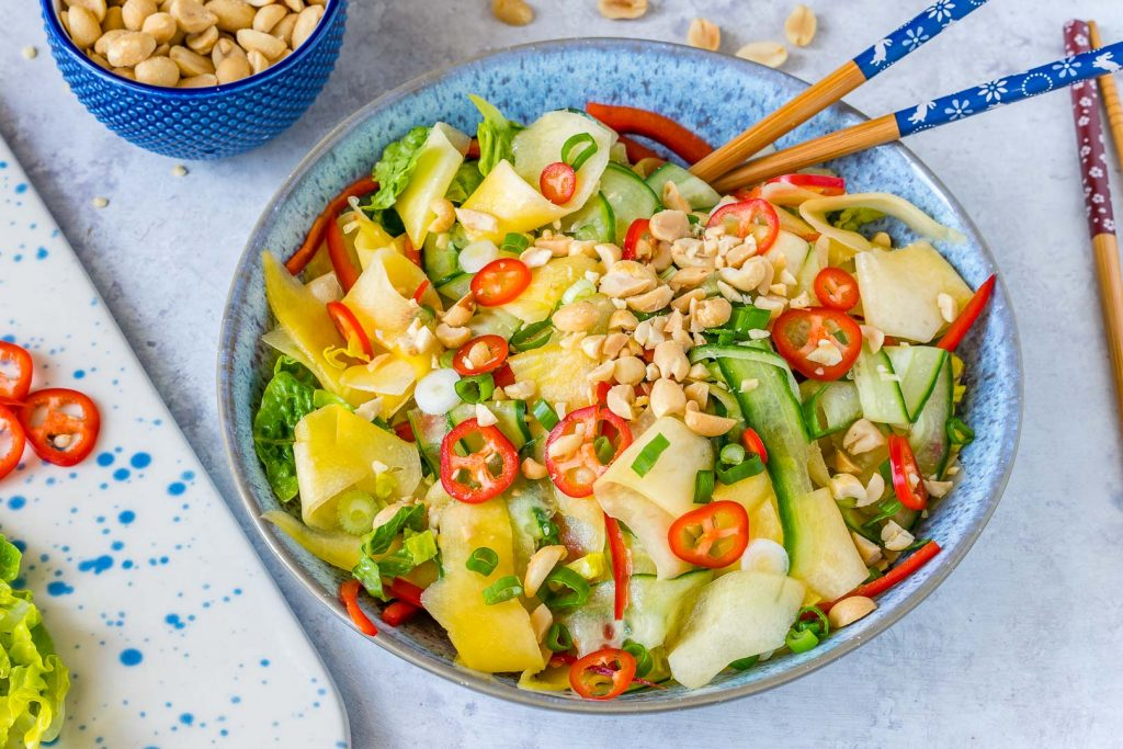 Thai Cucumber Mango Salad Instructions