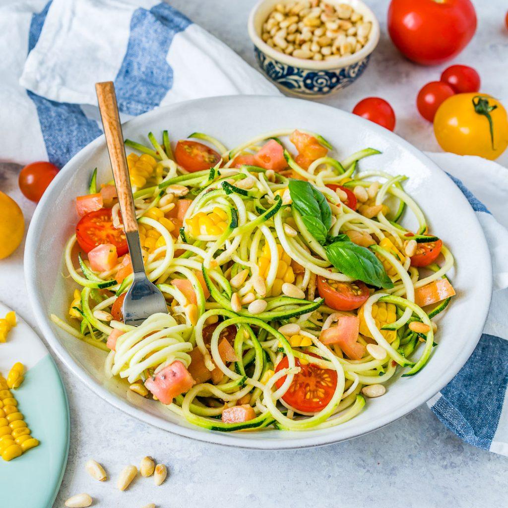 Healthy Zucchini Pasta Primavera Recipe