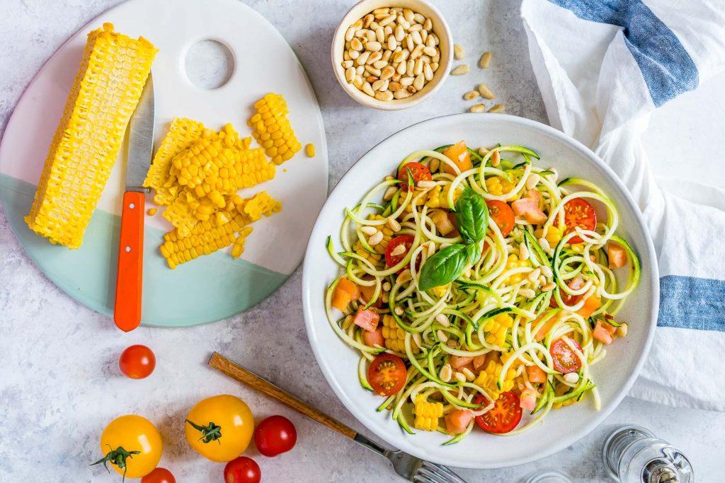 Zucchini Pasta Primavera Recipe