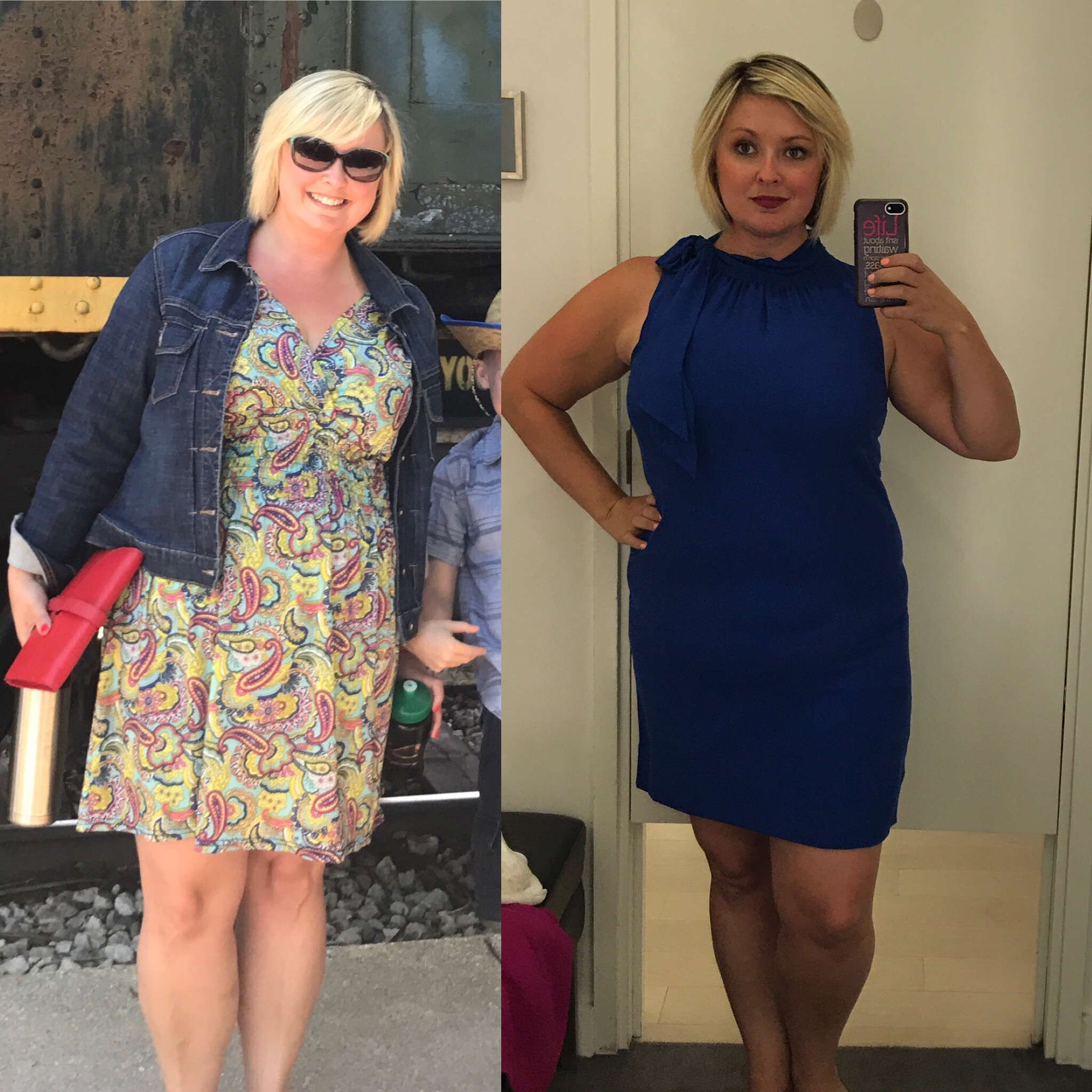 Jacklynn before and after 30 Day Clean Eating Challenge