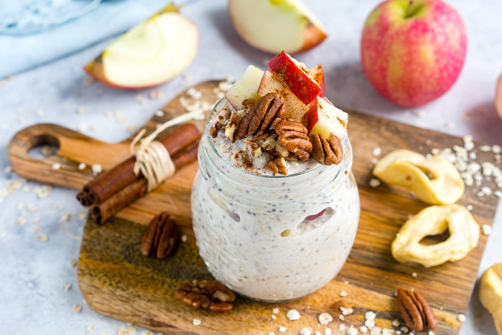 Apple Pie Overnight Oats Clean Eating
