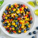 Clean Eating Mango Blueberry Salsa