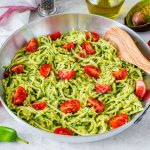 Clean Eating Zoodles + Fresh Avocado Sauce