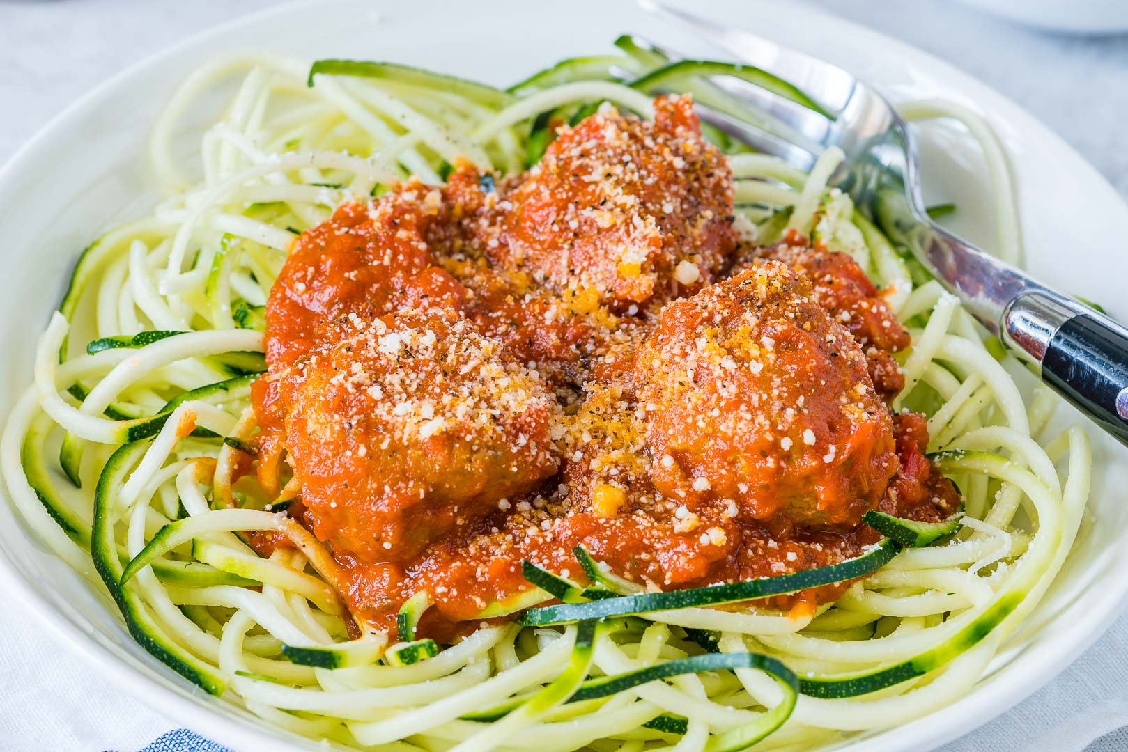 Clean Food Turkey Meatballs + Slurpy Zucchini Noodles