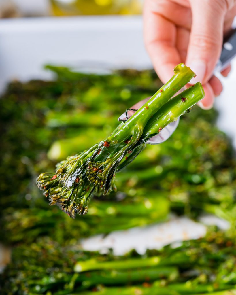 Healthy Tangy Honey Roasted Broccolini