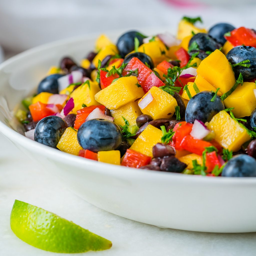 Healthy Mango Blueberry Salsa