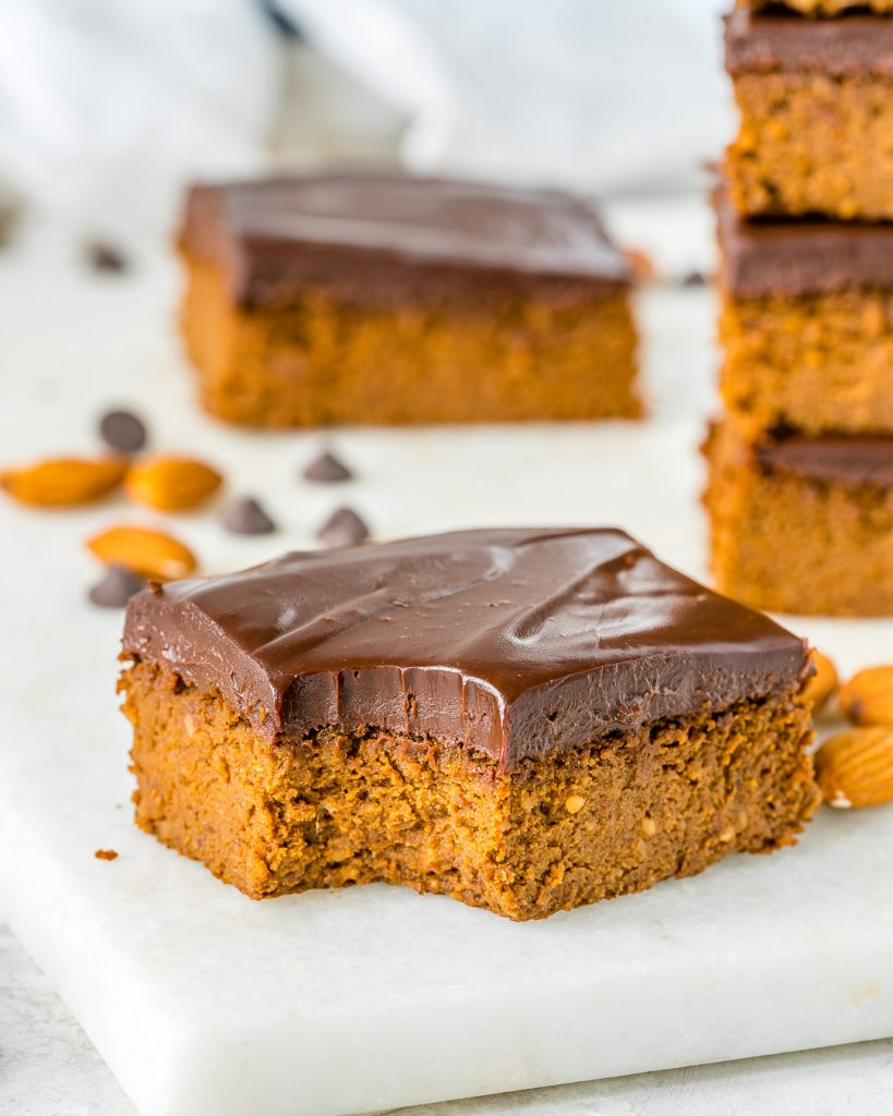Clean Eating Pumpkin Peanut Butter Brownies